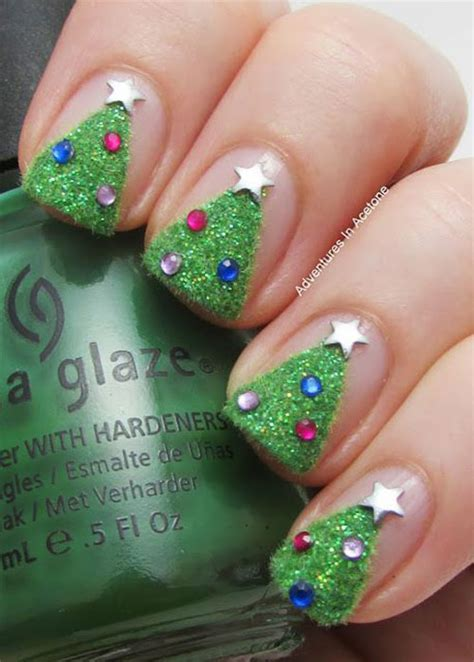 50 easy christmas tree nail art designs ideas stickers
