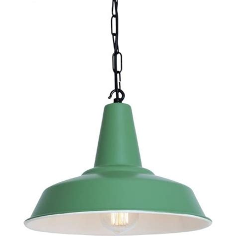 Industrial Style Pendant Lights Uk Green Industrial Style Tin Pendant Light On Black Chain Suspension