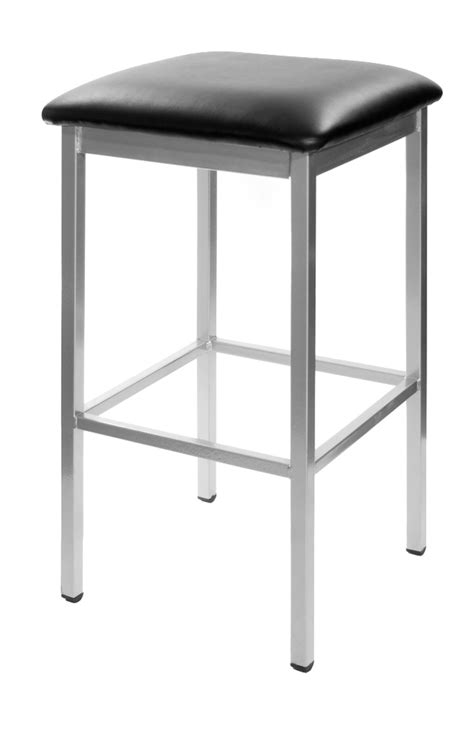 commercial backless bar stools commercial backless silver metal bar stool w choice of
