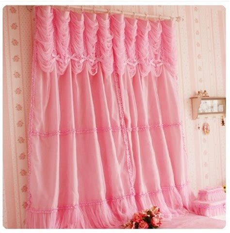princess window curtains diaidi rural romantic pink window curtain princess korean