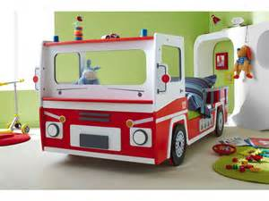 lit camion 90x190 cm pompier vente de lit enfant conforama