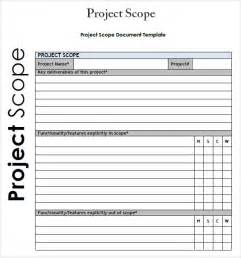 Project Scope Template project 7 free for word pdf