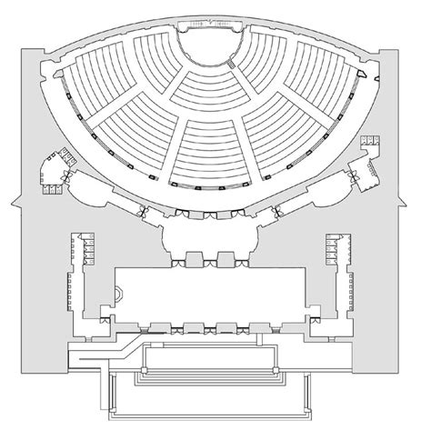 auditorium floor plan um school of music theatre dance facilities rackham