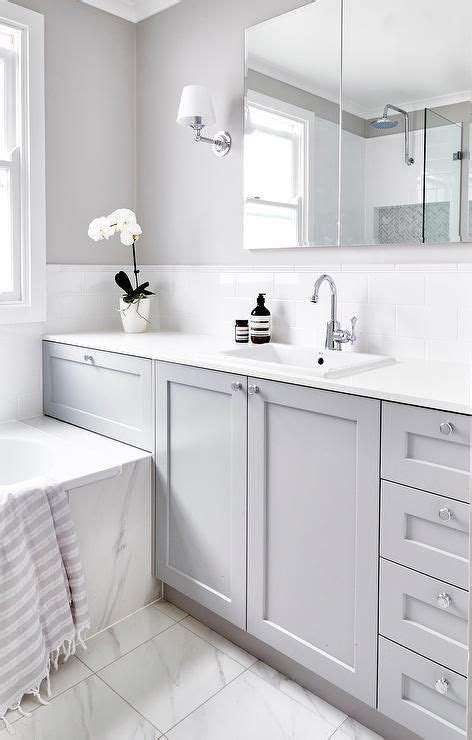 Bathroom White And Grey by Beautiful Gray And White Bathroom Is Fitted With A A Gray