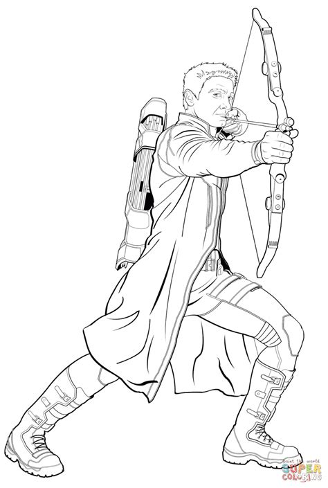 Download Coloring Pages Avengers Coloring Pages Avengers Hawkeye Coloring Pages