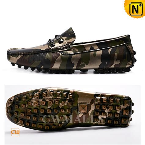 camo loafers mens camo leather driving loafers cw706166