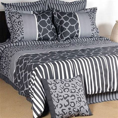 king size cheetah comforter black and cream bedding grand sales 7pcs animal print