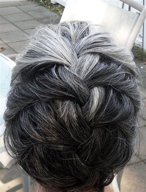 french hair braid salt pepper 78 best images about short grey outside the box i love