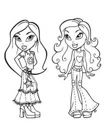 coloring pages bratz www galleryhip hippest pics