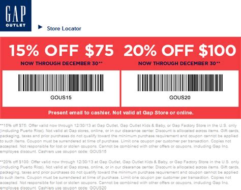 printable coupons nautica outlet image gallery gap coupon