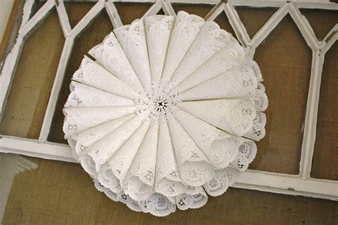 Paper Doily Craft Ideas - paper doily wreath