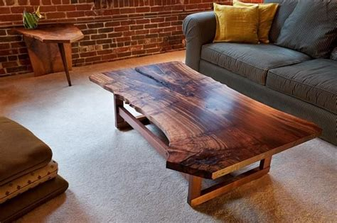 wood slab coffee table handmade live edge walnut slab coffee table by infusion