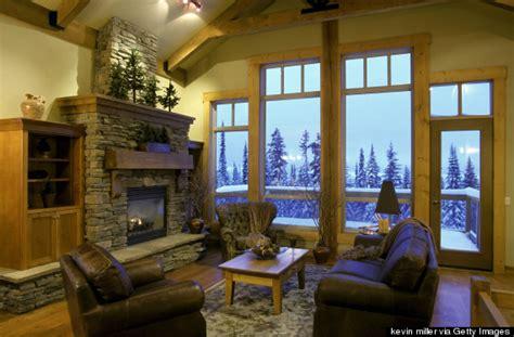 ski lodge fireplace how to make your home feel like a luxe ski lodge huffpost