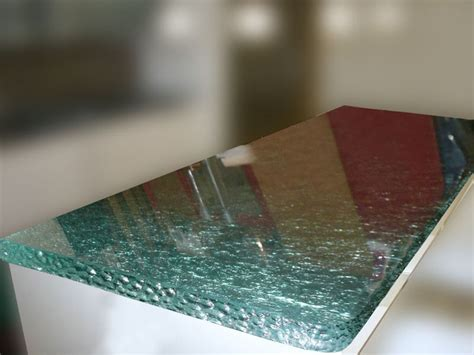 Clear Glass Countertops by Textured Glass Island Kitchen Countertop Cbd Glass