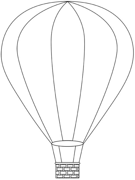 air balloon templates free air balloon printable template free digital air