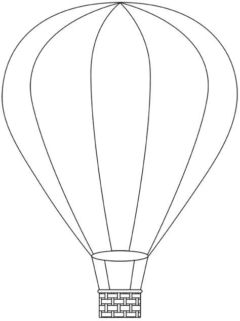 air balloon printable template free digital air