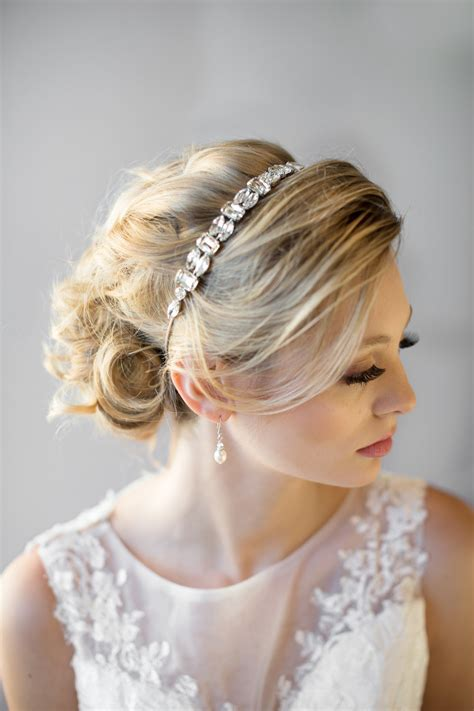 Wide Silk Jewelled Headbands At Shop Intuition by Ribbon Headband Wedding Headband Bridal Rhinestone