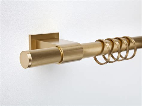 Contemporary Style Brass Nickel Curtain Rod Villa Pura 28