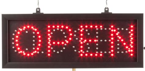 Lighted Open Sign by Ledopcln3 Rw Zoom Jpg