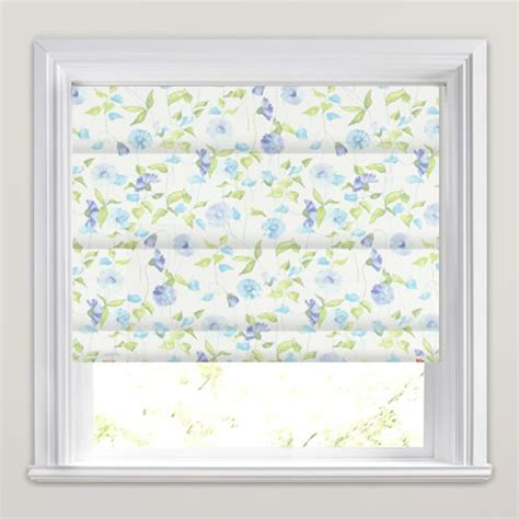 blue patterned blinds luxury blue green cream pretty daisy patterned roman blinds