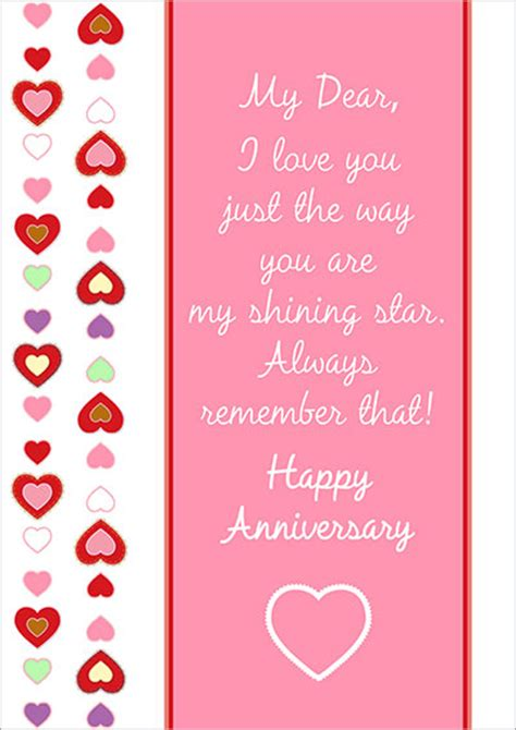 printable anniversary cards him free printable anniversary cards