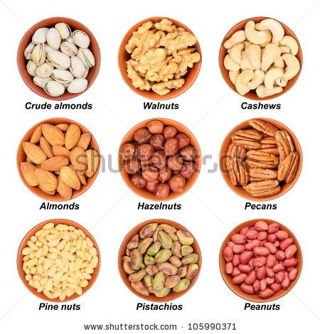 All About Almonds 2 by Different Types Nuts Pistachios Walnuts Cashews Stock