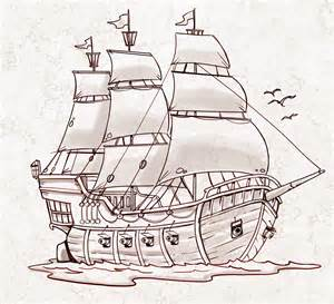 realistic pirate ship drawing pirate ship a sketch for a how to draw book my