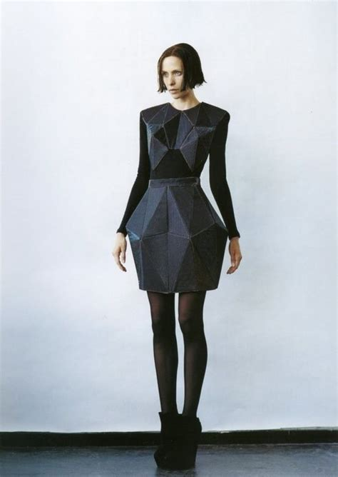 geometric pattern in fashion futuristic fashion geometric crystallographica irina