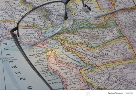 photo of san francisco bay area on a vintage map with