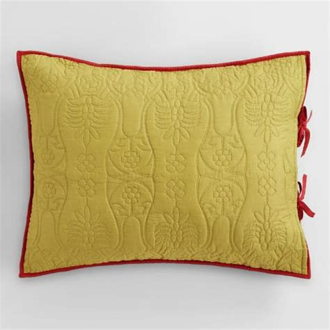 coral and oasis green pillow shams set of 2