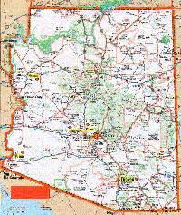 arizona road map with mileage arizona maps and state information
