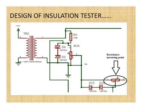 insulation tester circuit diagram iesl presentation
