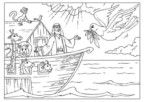 free noah s ark coloring pages download printable image
