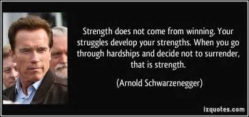 Strength does not come from winning your struggles develop your