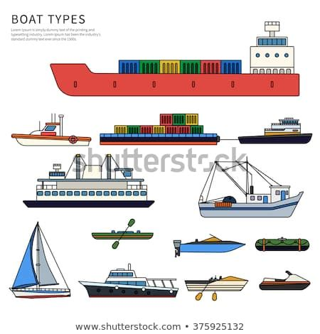kinds of boats boats ships types military boat powerboats stock vector