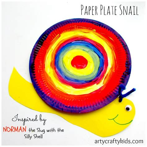 norman the slug with the silly shell books paper plate snail