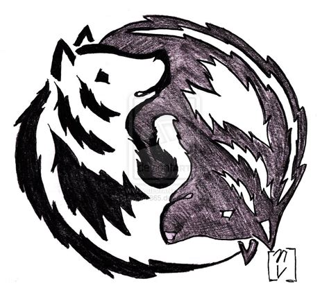 yin yang wolf tattoo yin and yang wolf by okami365 deviantart on