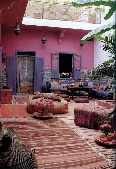 orientalische wandfarben orientalische terrassengestaltung mit wandfarbe pink