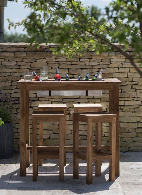 drink table bar st mawes bar table with drinks cooler