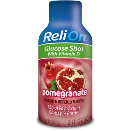 relion pomegranate glucose shot dietary supplement  fl