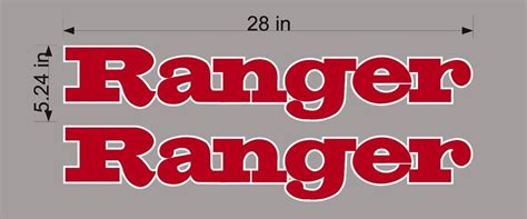 ranger boats emblem ranger boats logo pair vinyl decal sticker vehicle