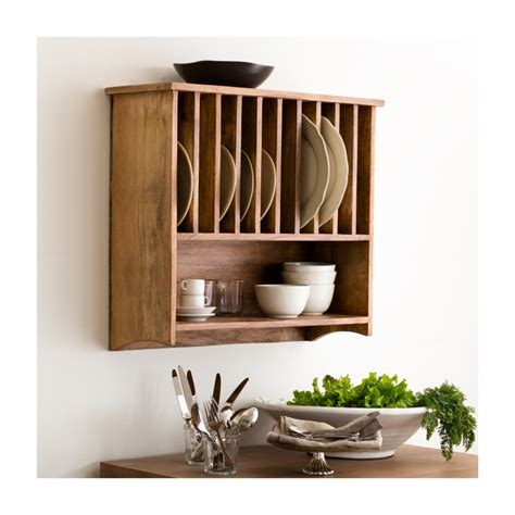 decorations wall mounted shelf plus interior lacquered mahogany wood dish rack with wall mounted storage plus kitchen