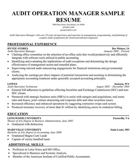 auditing manager cover letter audit associate resume officer cover letter exle resume