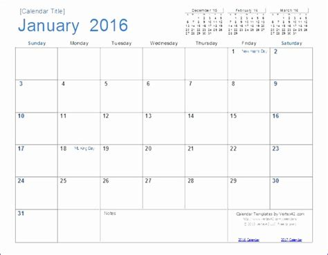18 Month Calendar Template by 6 Excel Perpetual Calendar Template Exceltemplates