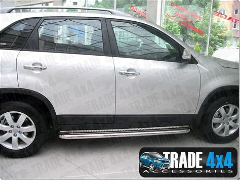 Kia Sportage Side Bars Kia Sportage 2010 Side Bars Steps Stainless Steel C2
