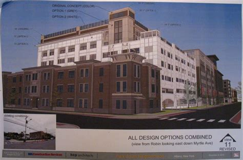 Albany Parking Garage by Two New Options For Park South All Albany
