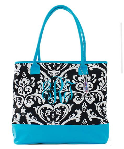 damask insulated cooler tote bag monogrammed tinytulipcom