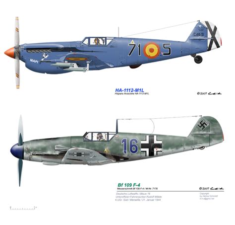 Sq 51 by Hispano Aviaci 243 N Ha 1112 Buch 243 N Spanish Fighter Further