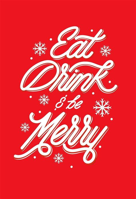 Eat Drink And Be Merry Christmas Card Greeting Cards