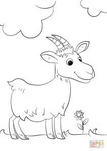 cartoon goat coloring page cute cartoon goat coloring page free printable coloring